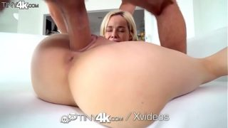Tight Blonde Spreading for Huge Dick [Tiny4K]